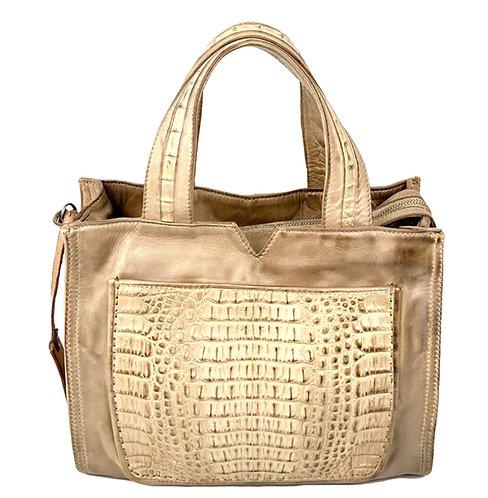 Reptile's House Handbag Crocodile Sand