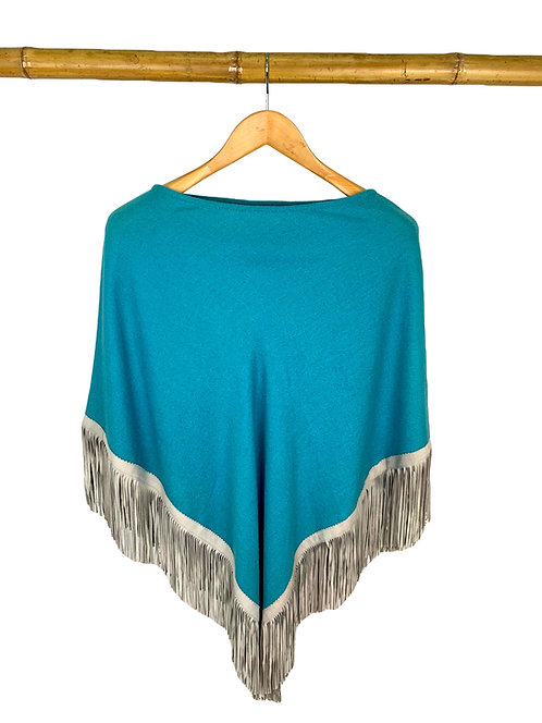 Classic Poncho Turquoise