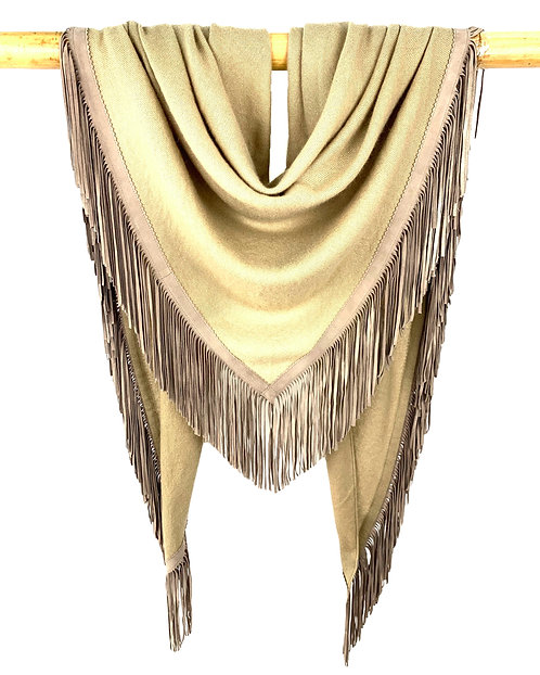 Open Poncho Light Olive