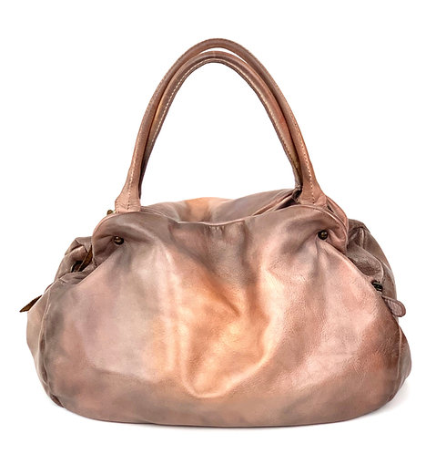 Reptile's House Handbag Leather Metal Peach
