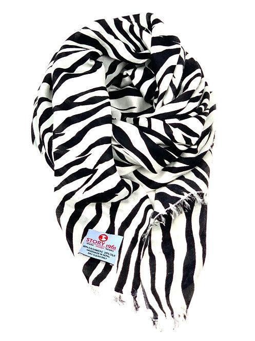 Waterpashmina Scarf Zebra White meets Black