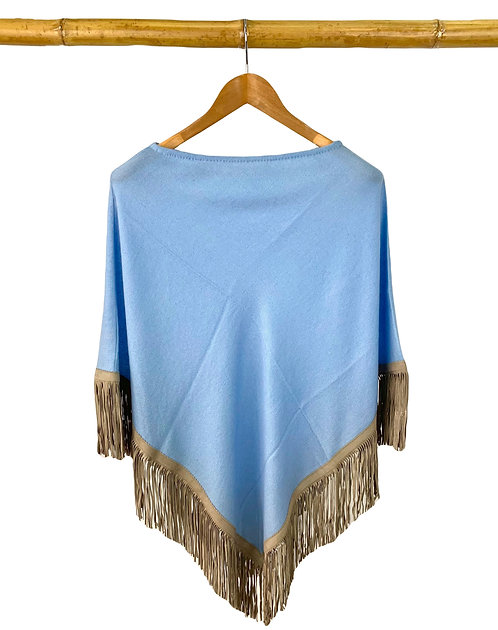 Classic Poncho Baby Blue