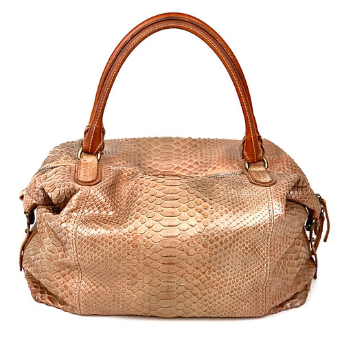 Reptile's House Handbag Phyton Peach
