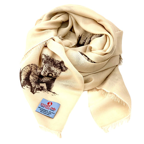 Waterpashmina Scarf Koala Cream