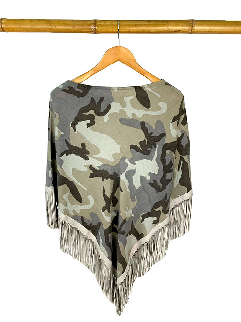 Classic Poncho Camouflage Taupe meets Gray