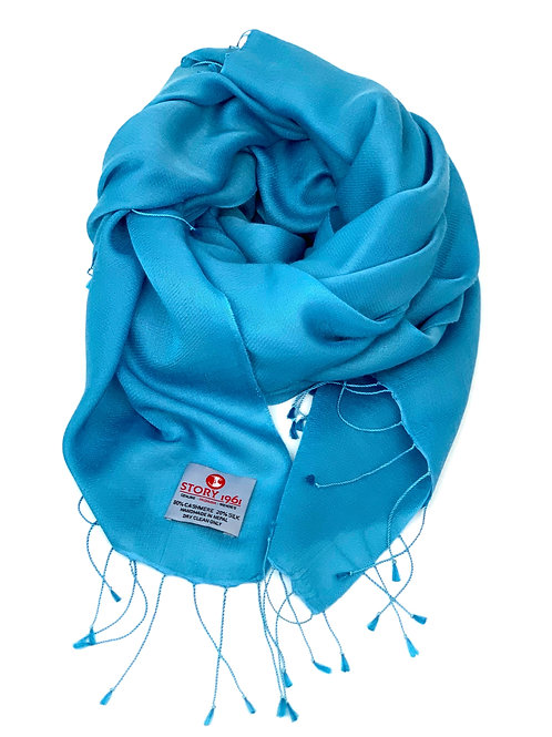 Waterpashmina Scarf Blue Turquoise
