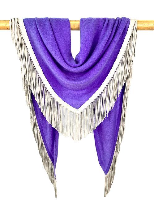 Open Poncho Purple