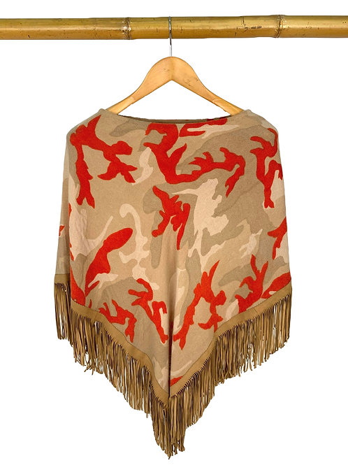 Classic Poncho Camouflage Mandarin meets Camel
