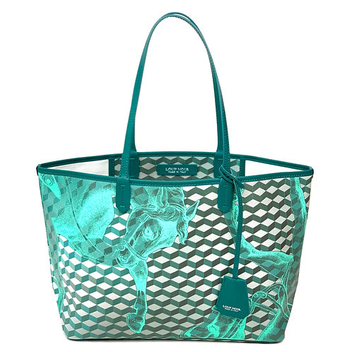 Loup Noir Handbag Shopper Mint/Petrol
