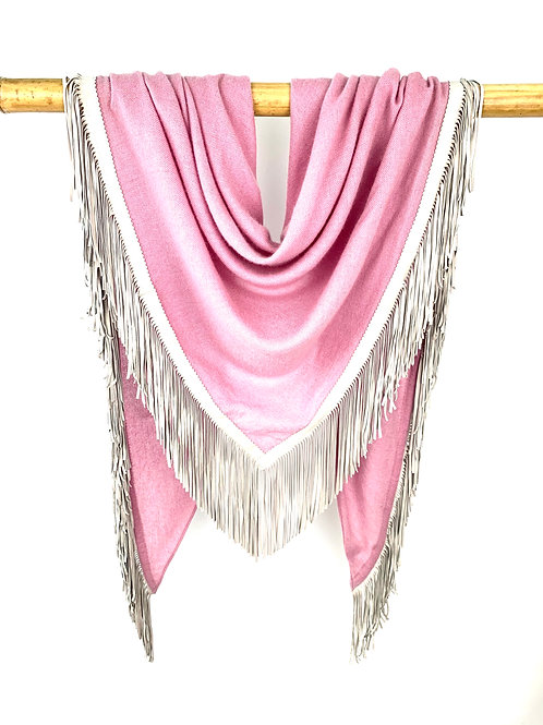 Open Poncho Old Rose