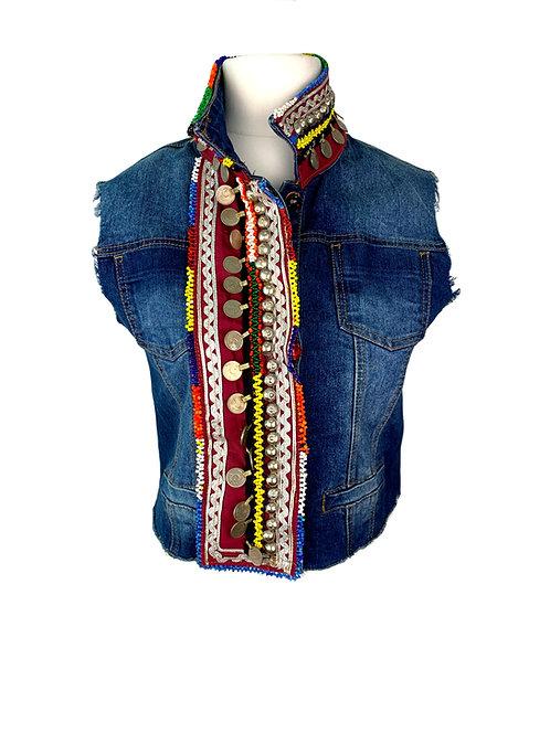 Dassios Jeans Vest Multi Colour