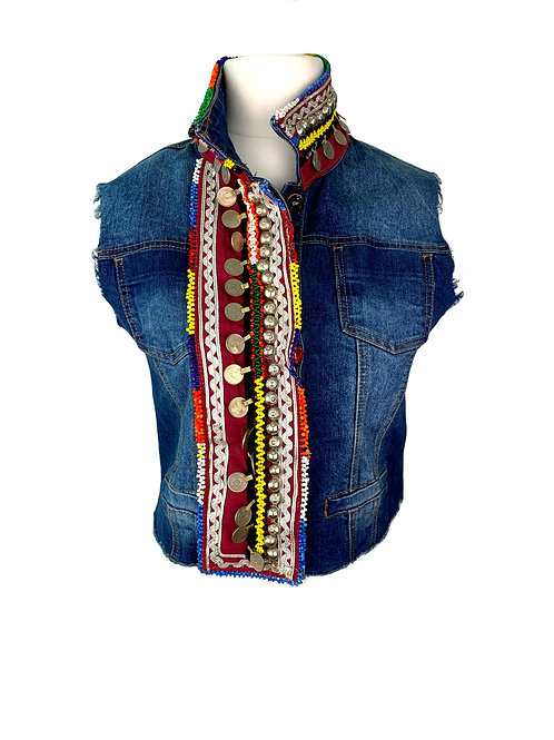 Dassios Jeans Vest Multi Colour