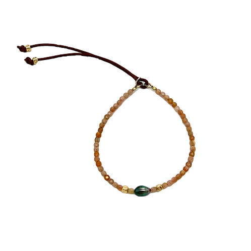 Catherine Michiels Peach Moonstone Women Bracelet