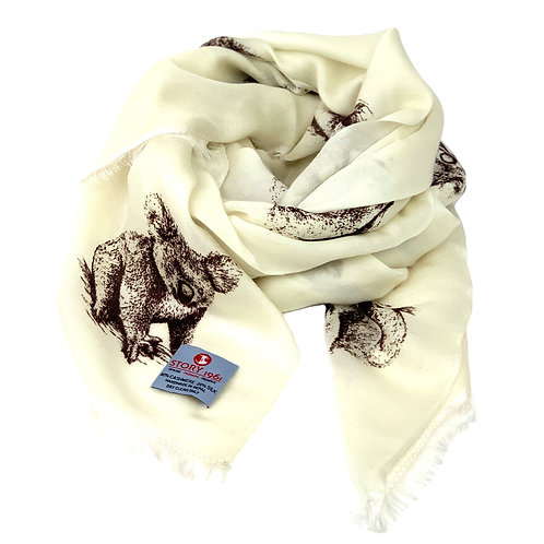 Waterpashmina Scarf Koala White