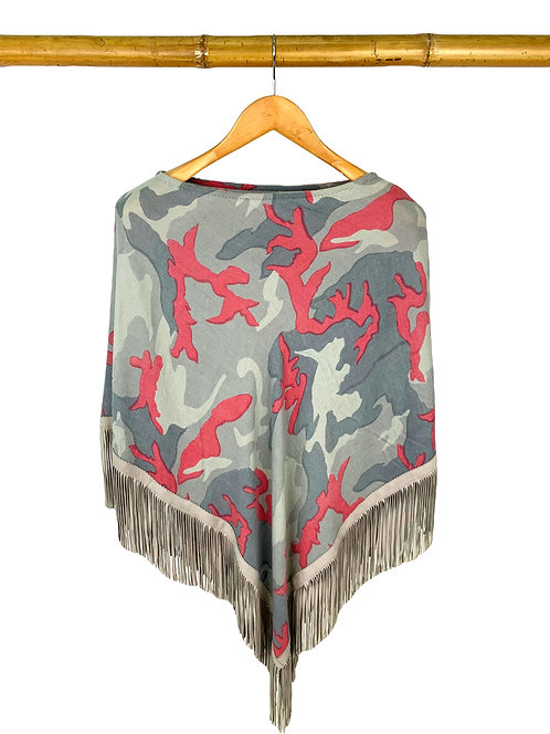 Classic Poncho Camouflage Gray meets Rose