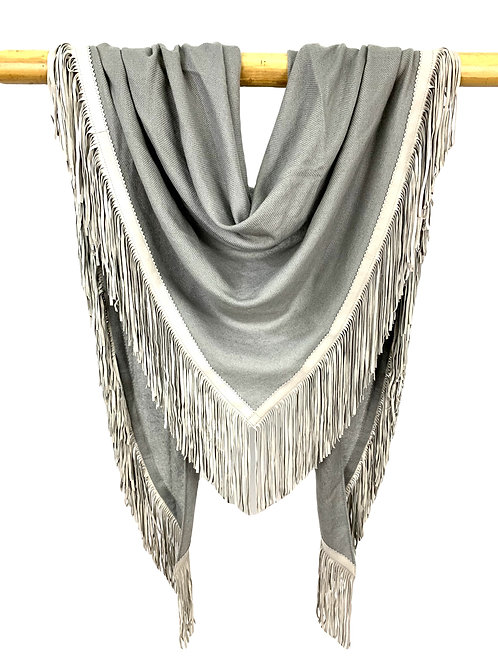 Open Poncho Frost Gray