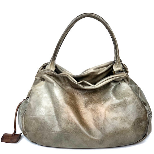 Reptile's House Handbag Leather Taupe