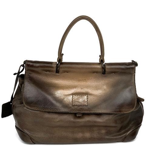 Reptile's House Handbag Leather Dark Bronze