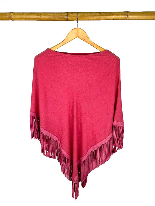 Classic Poncho Old Rose