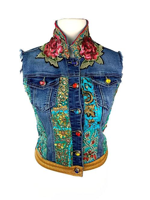 Dassios Jeans Vest Flowers