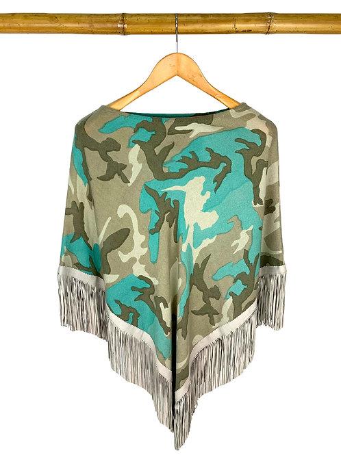 Classic Poncho Camouflage Taupe meets Aqua