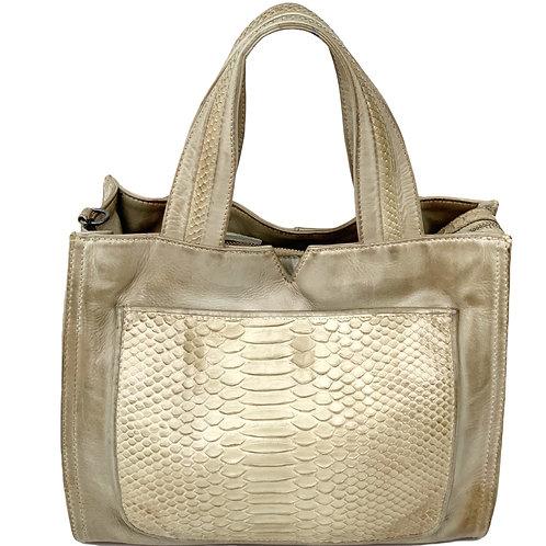 Reptile's House Handbag Phyton Cream