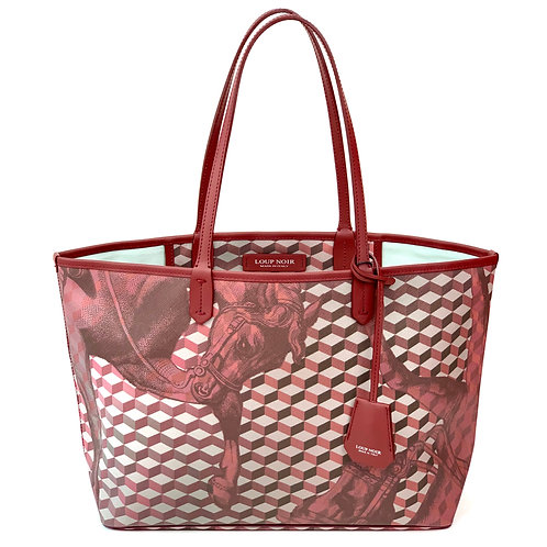 Loup Noir Handbag Shopper Burgundy