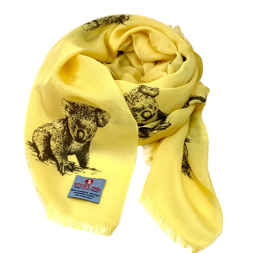 Waterpashmina Scarf Koala Yellow
