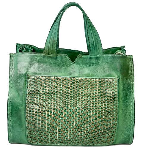 Reptile's House Handbag Calfskin Lime Green