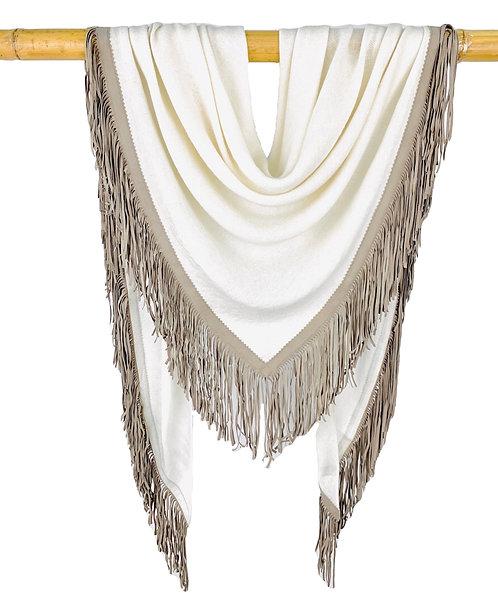 Open Poncho White