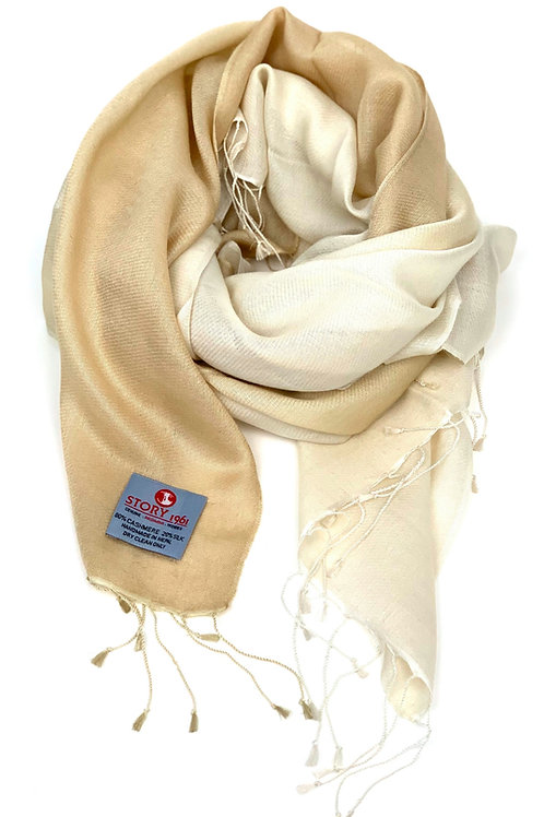 Waterpashmina Scarf Camel meets Cream