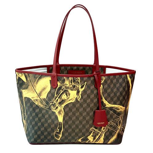 Loup Noir Handbag Shopper Brown/Saffron