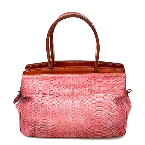 Reptile's House Handbag Phyton Old Rose