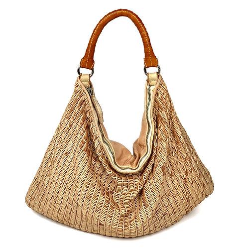 Reptile's House Handbag Leather Peach