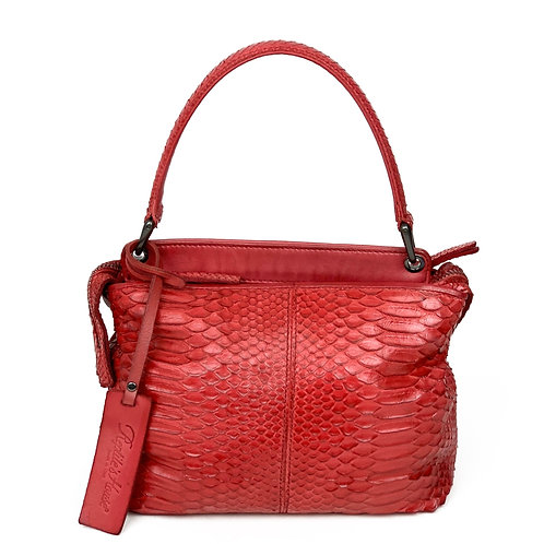 Reptile's House Handbag Phyton Red