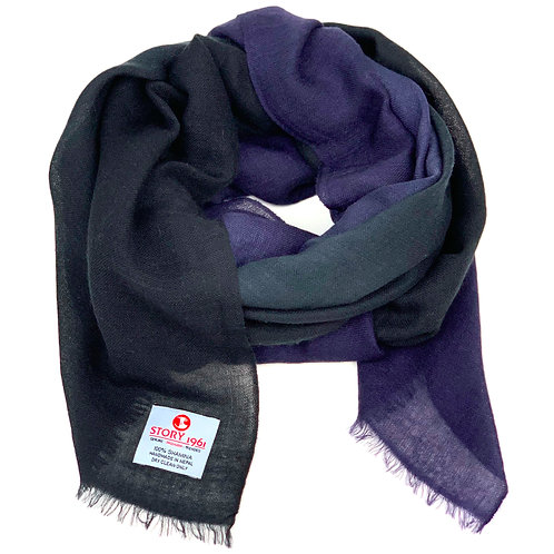 Shamina Scarf Black meets Navy Blue