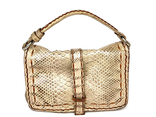Reptile's House Handbag Phyton Light Taupe