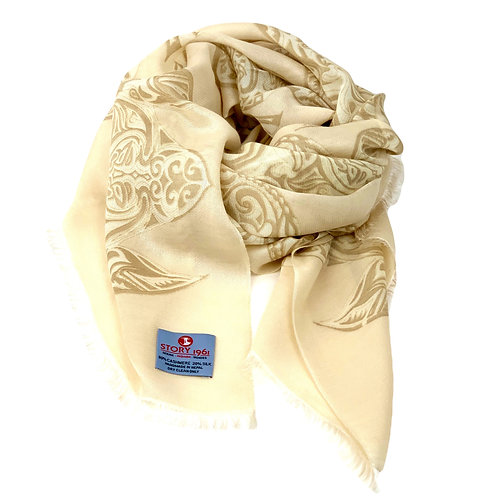 Waterpashmina Scarf Turtle Vanilla meets Beige