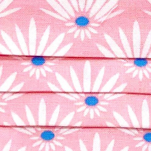 Mask Flower Pink/White