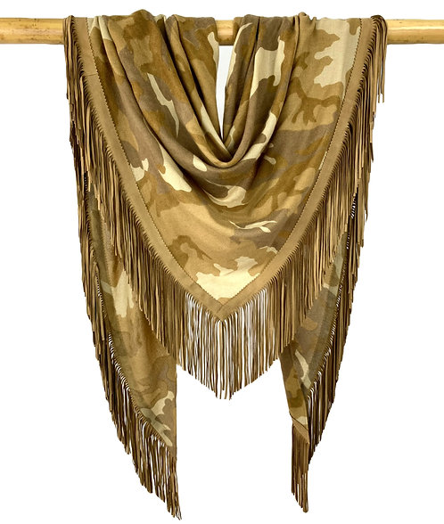 Open Poncho Camouflage Camel Military