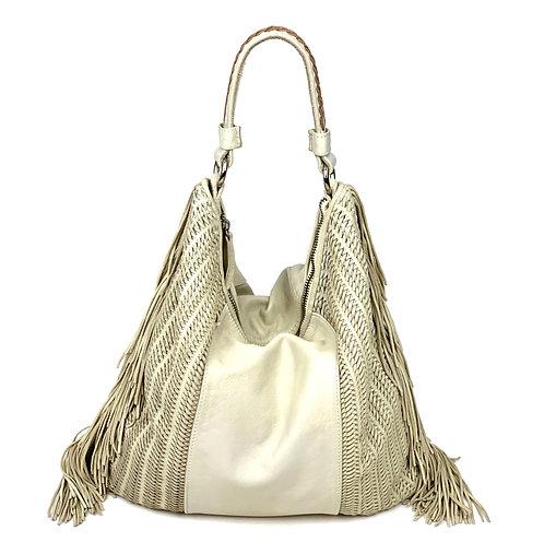 Reptile's House Handbag Leather Off White