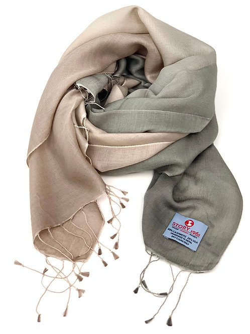Waterpashmina Scarf Dark Nude meets Nude