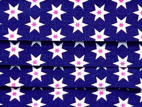 Mask Stars Navy Blue/Pink