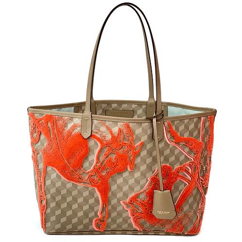 Loup Noir Handbag Shopper Almond/Coral