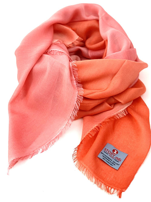 Waterpashmina Scarf Peach meets Coral