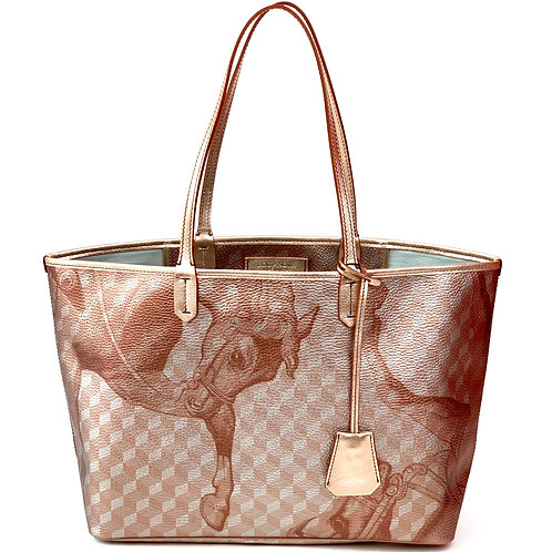 Loup Noir Handbag Shopper Dusty Coral Metallic