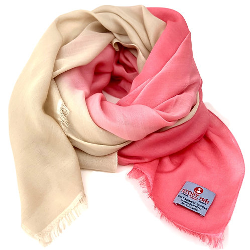 Waterpashmina Scarf Coral meets Cream