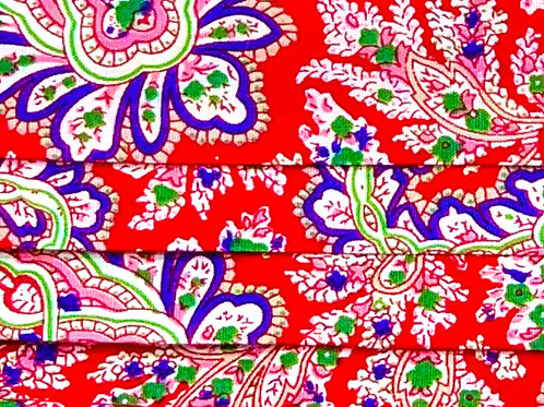 Mask Paisley Red/Pink