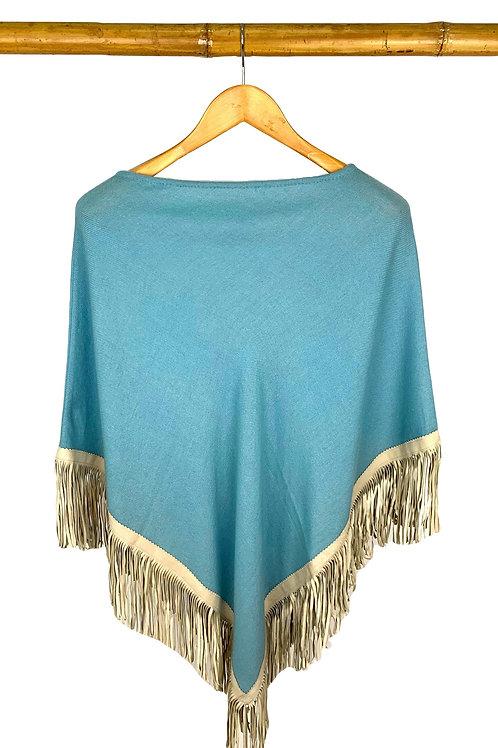 Classic Poncho Light Turquoise