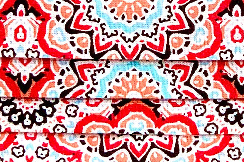 Mask Paisley Red/Baby Blue